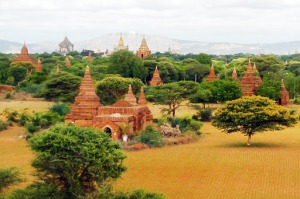 Serene: Temples pepper the plain in the ancient city Bagan.